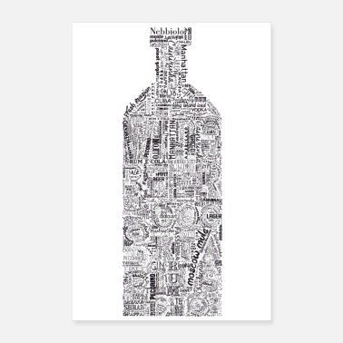 Tag Bottle Full Tag Cloud - Poster 24x36
