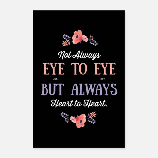 Typography Posters - Always Heart To Heart v2 - Posters white