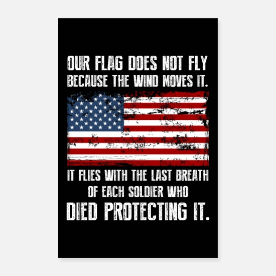 Veterans Day Posters - Our Flag v2 - Posters white