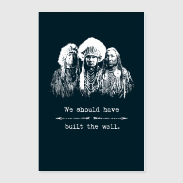 Politics Native Americans Indians Immigration Politics - Poster 24x36