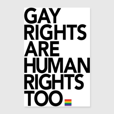 Gay Rights Are Human Rights Poster - Poster 24x36