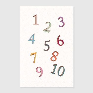 Numbers - Poster 24x36