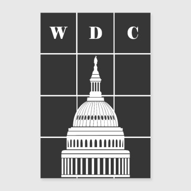 Washington, DC (WDC) and USA Capitol Building Dome - Poster 24x36