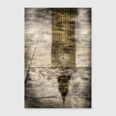 Big Ben Reflection in London - Poster 24x36