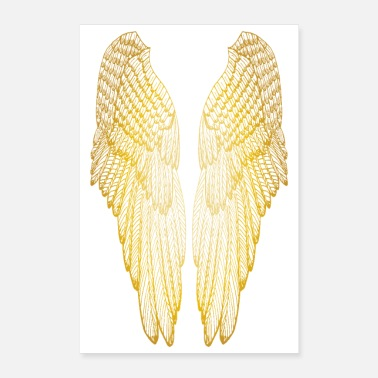Long Long Gold Wings - Poster