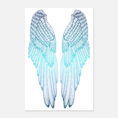 Long Long Blue Wings - Poster