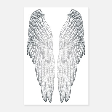 Silver Long Silvered Wings - Poster 24x36