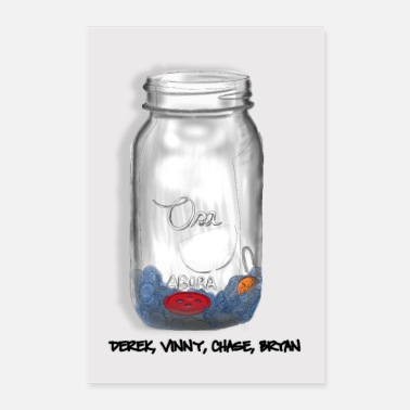 Jar Button In a Jar Poster - Poster