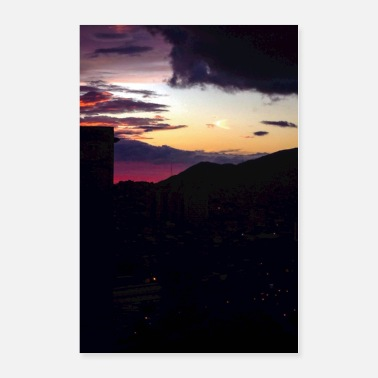 Flag Of Venezuela Caracas Sunset - Poster