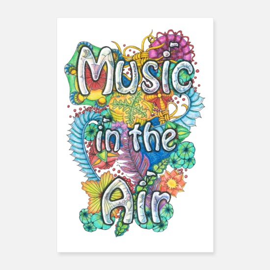 Colourful Posters - Music in the Air - Posters white