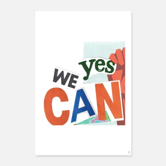 Inspiration Posters - Yes we can_PilouB.-Poster - Posters white