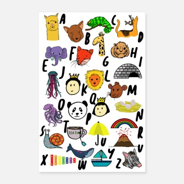 First Graders Poster, Alphabet. School, First Grade, 1st Grader - Poster