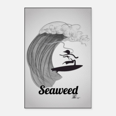 Spliff Seaweed Cannabis Wall Poster - Poster