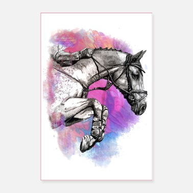 Show Jumping POSTER HORSE HORSES JUMPING - Poster