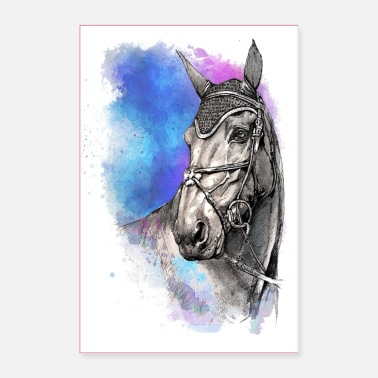 Dressage Horse POSTER HORSES HORSE - Poster