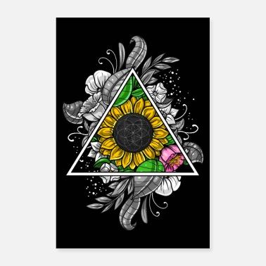 Sacred Sunflower Sacred Geometry - Poster