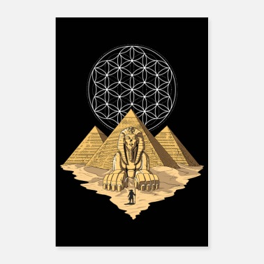 Sacred Ancient Egyptian Pyramids - Poster