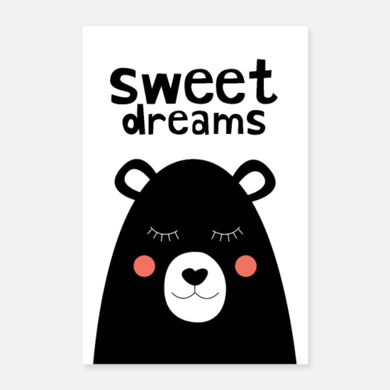 Typography Posters - Sweet Dreams Nursery Print - Posters white