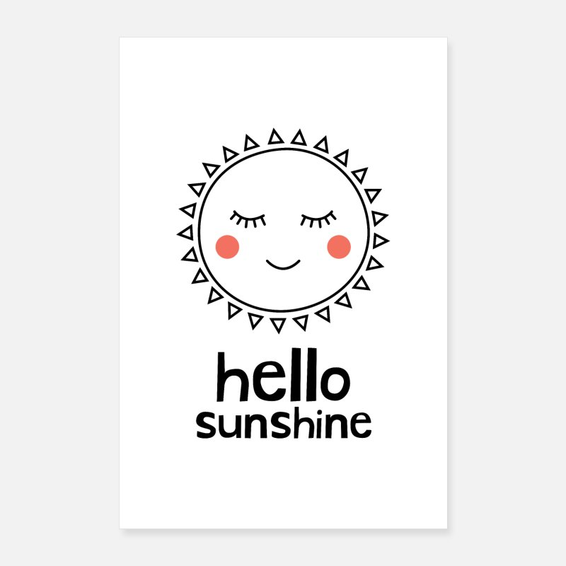 Sunshine Posters - Hello Sunshine - Posters white