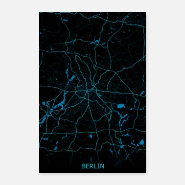 Mode Berlin Germany Road Map - Poster 24x36