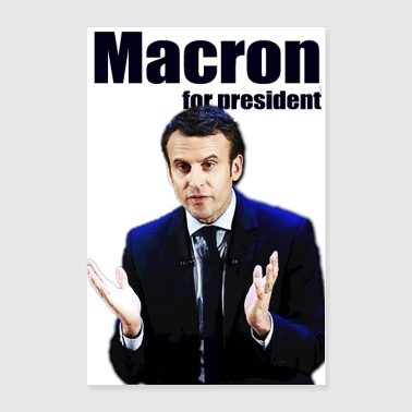 MACRON FOR PRESIDENT - Poster 24x36