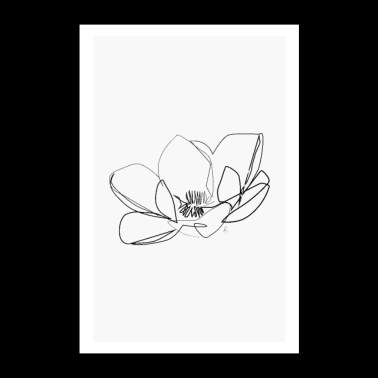 Magnolia Flower - Poster 24x36