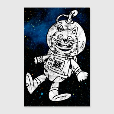 Space Cat Astronaut Poster - Poster 24x36