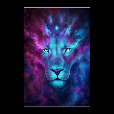 Cosmic Lion - Poster 24x36