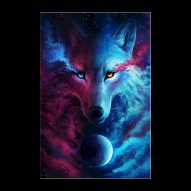 Galactic Wolf - Poster 24x36