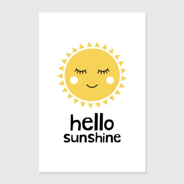 Hello Sunshine Yellow - Poster 24x36