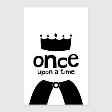 Once Upon A Time - Prince or Princess Illustration - Poster 24x36