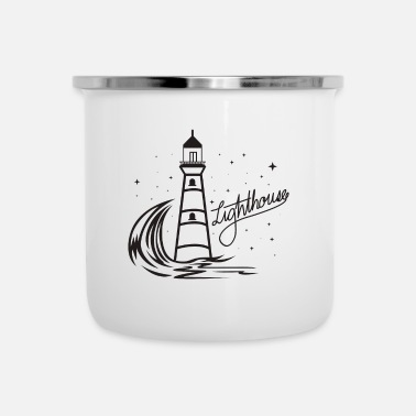 North Sea Lighthouse Coast North Sea Holiday Gift - Enamel Mug