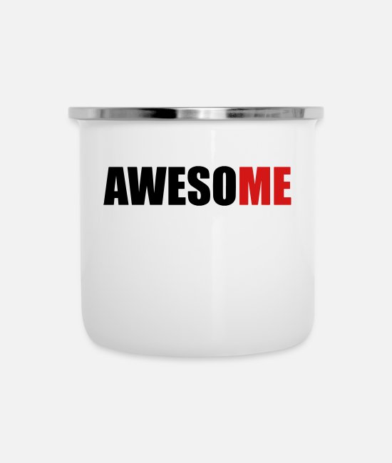 Miscellaneous Mugs & Cups - AwesoME - Enamel Mug white
