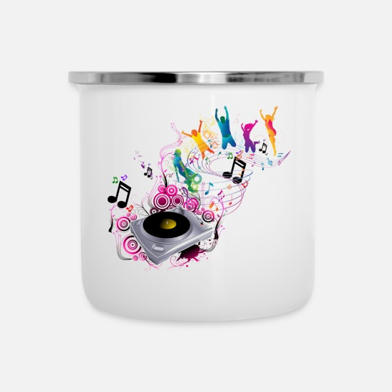 Music Is Life Mugs & Drinkware - music - Enamel Mug white