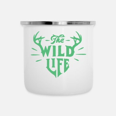 Text The wild life Title Creativity Text Quotes - Enamel Mug