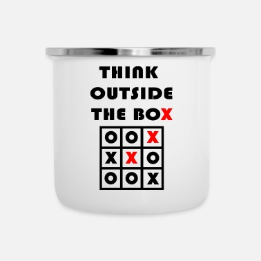 Lateral Thinker Think Outside The Box Tic Tac Toe Geschenk - Enamel Mug