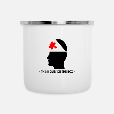 Lateral Thinker Think Outside The Box Querdenker Geek Geschenk - Enamel Mug