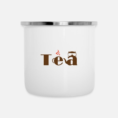 Tea Tea Tea Bag Tea Cup Green Tea Black Tea Gift - Enamel Mug