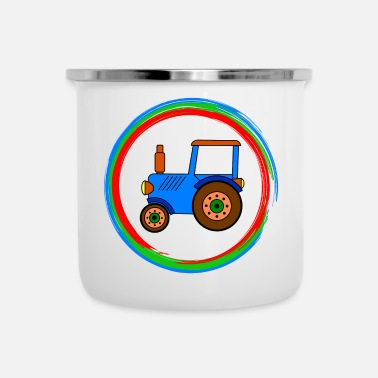 Toy blue toy tractor / toy tractor - Camper Mug