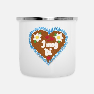 Bavarian bavarian gingerbread heart for oktoberfest wiesn - Camper Mug