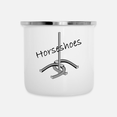 Horseshoe Horseshoes t-shirts and gifts - Camper Mug