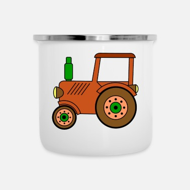 Toy brown toy tractor / toy tractor - Camper Mug