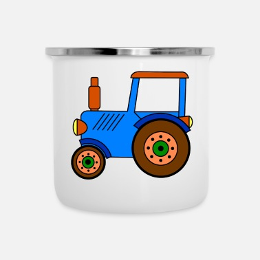 Toy toy tractor / blue toy tractor - Camper Mug