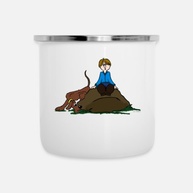 Search Search Dog - Enamel Mug