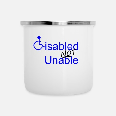 Disability Disabled Not Unable - Camper Mug