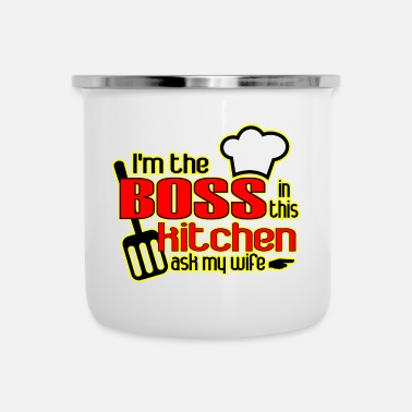 Cook Boss in the Kitchen ( Funny ) - Enamel Mug