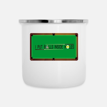 Billiard Table billiards table - Enamel Mug