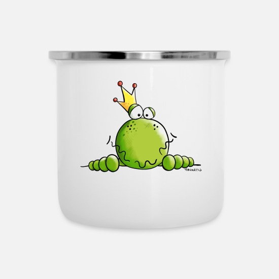 Prince Mugs & Drinkware - King Of Frogs - Frog - Crown - Prince- Gift - Enamel Mug white