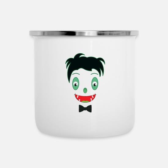 Motorcycle Mugs & Drinkware - Lovely Dracula - Enamel Mug white