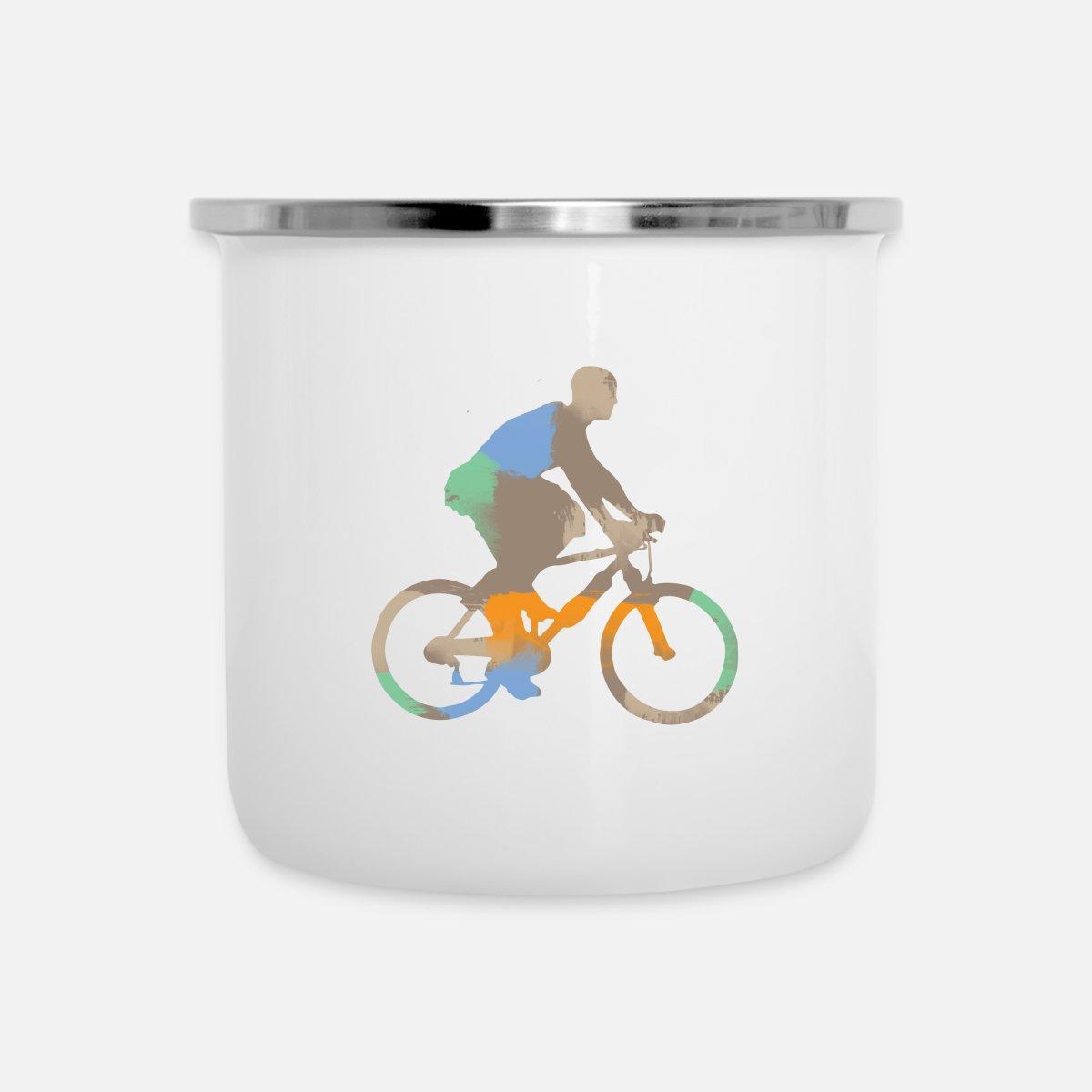Bicycle rider - gift ideas Enamel Mug